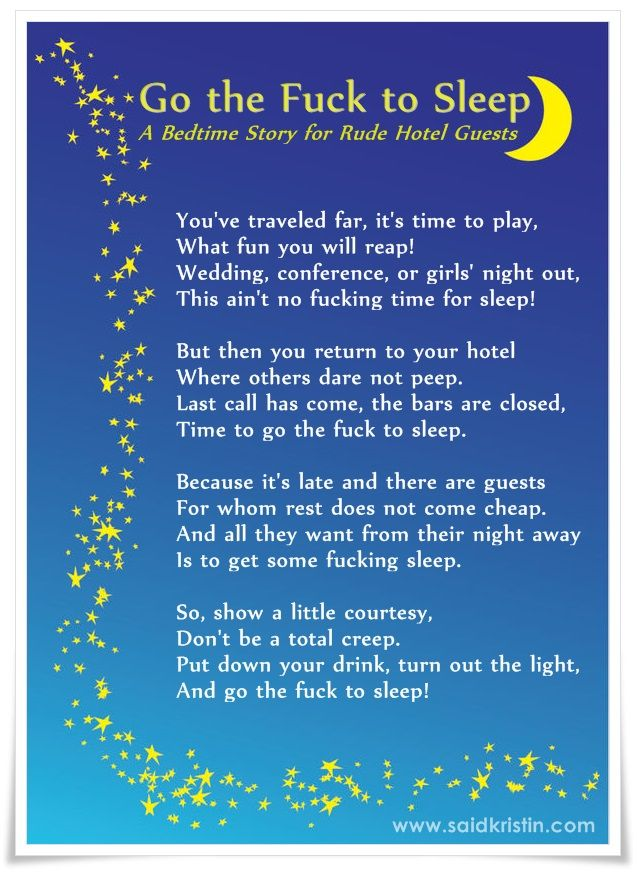 Travel Humor A Bedtime Story For Rude Hotel Guests  Make Me