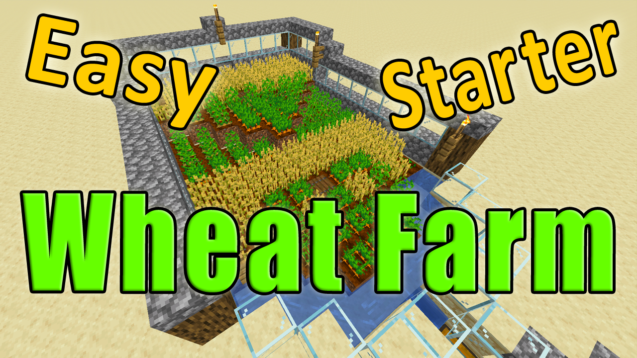 This is a great #minecraft wheat farm tutorial to get food ...