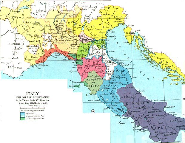 Historical map web sites perry castaeda map collection ut the renaissance began in northern and central italy part of it was because of the properity of italian city states in italy growing towns demanded sciox Image collections