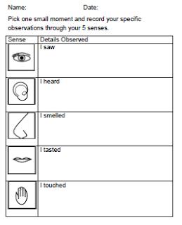 FREEBIE worksheet for sensory writing about Thanksgiving ...