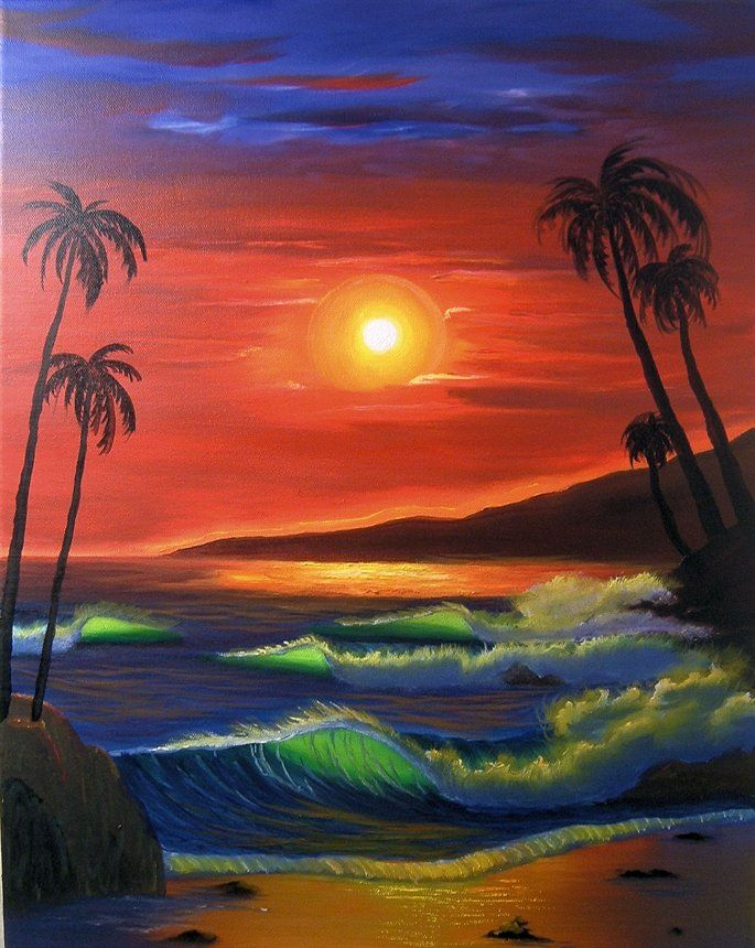 Sunset Beach Jpg 685 860 With Images Sunset Painting Beach