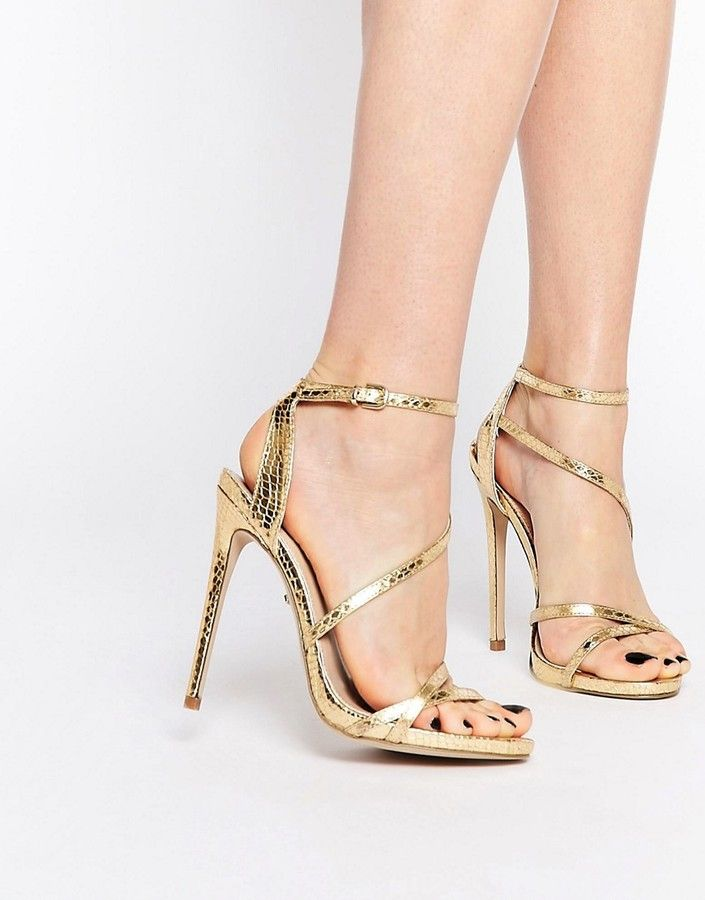 fa39f43194b Carvela Georgia Gold Strappy Barely There Sandals