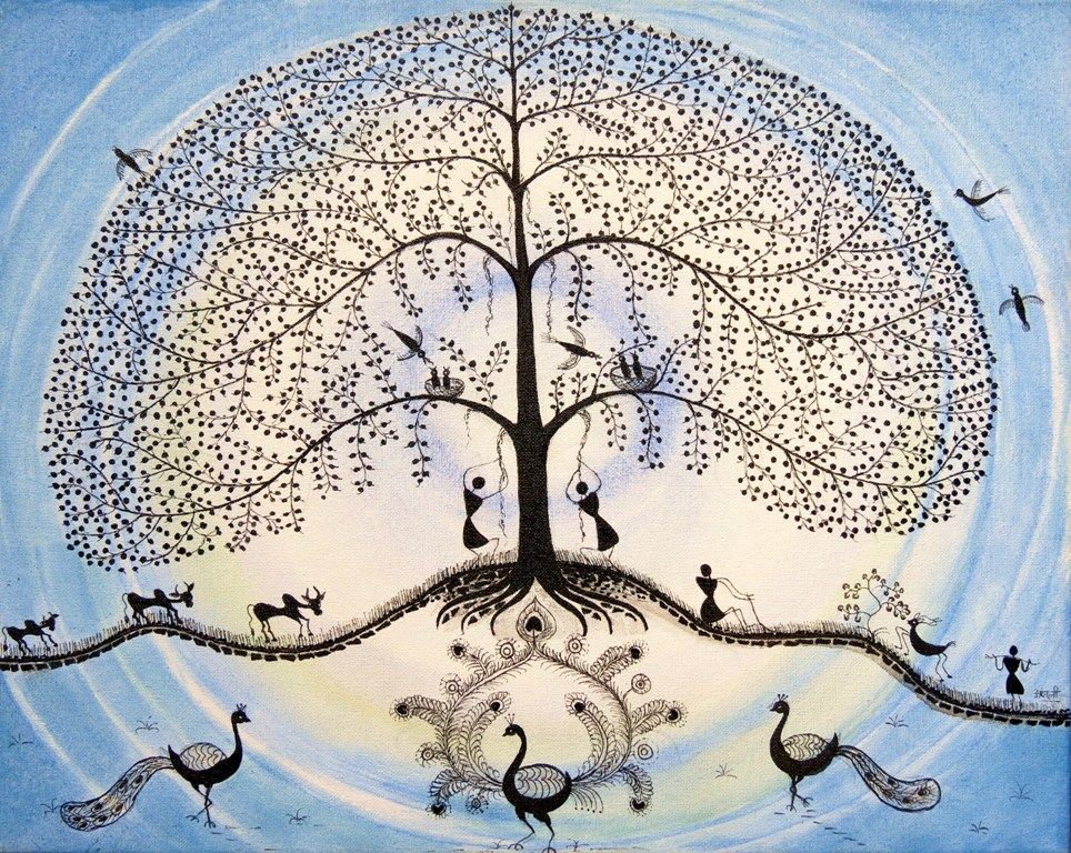 Original Tree of life canvas art | India's Contemporary ...