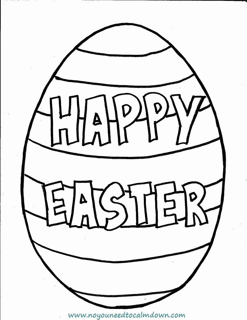 Simple Easter Coloring Pages New Easter Egg Printable