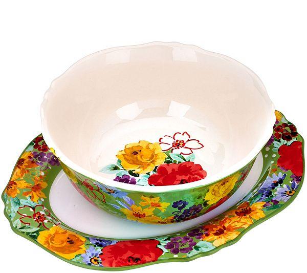 Pioneer Woman Serving Platter And Bowl Set Pioneer Woman