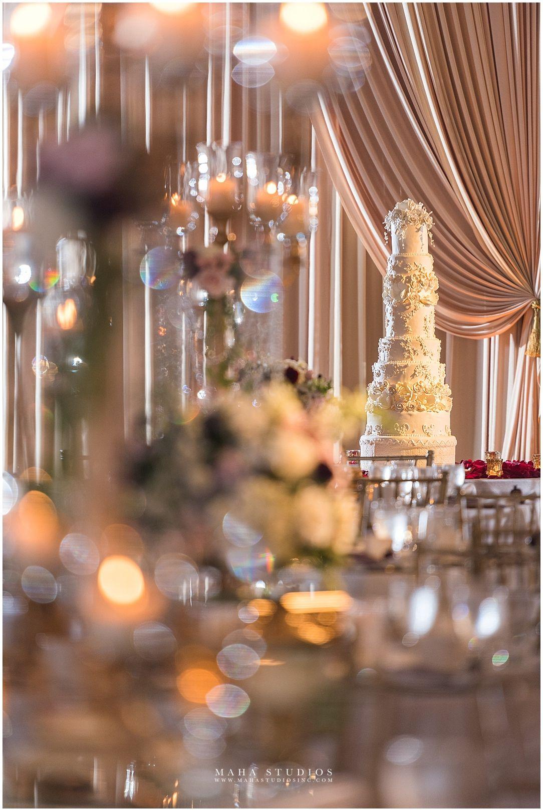 Elegant White Wedding Cake idea // Chicago Pakistani ...