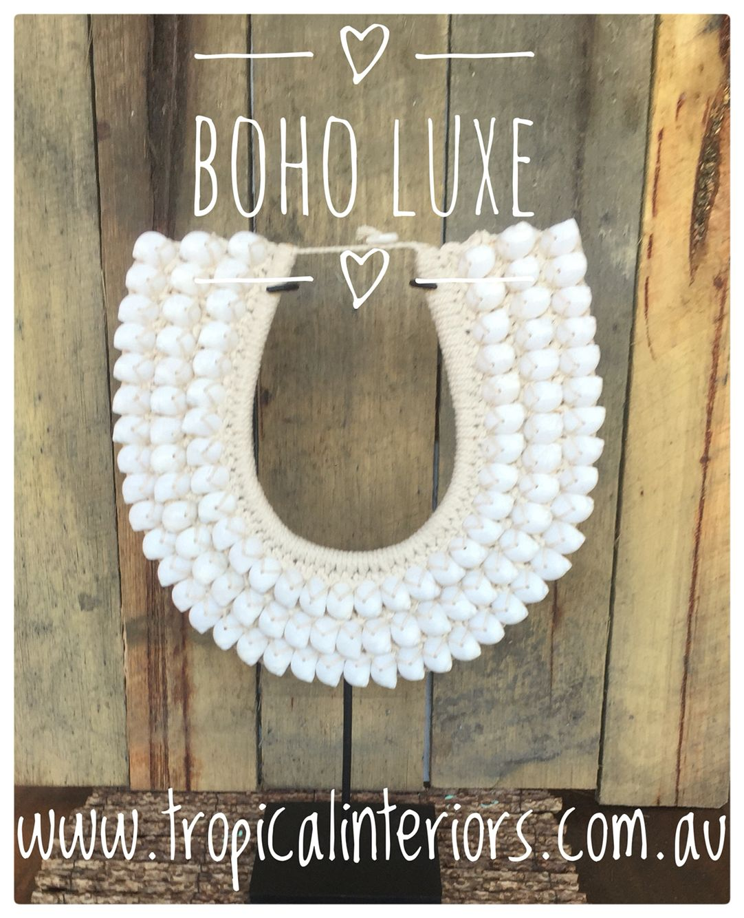 tribal shell necklace on stand boho home decor pinterest
