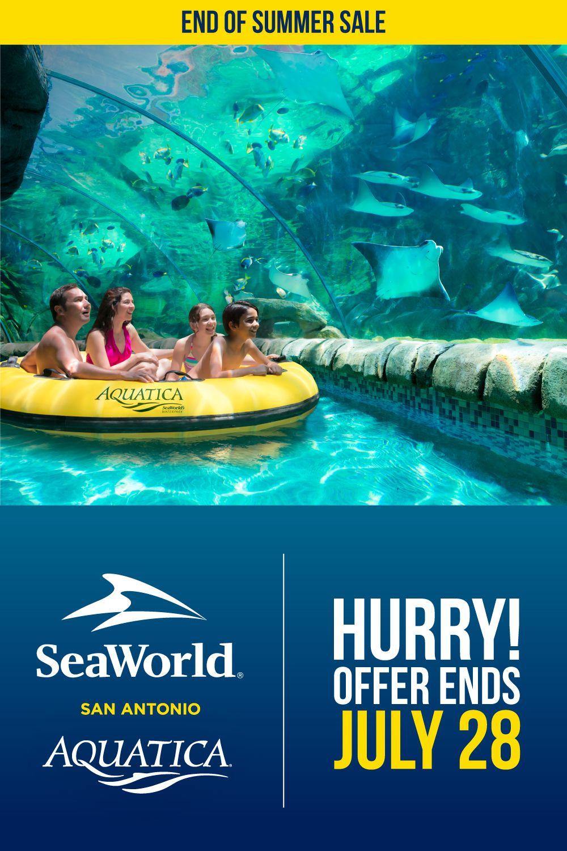 End Of Summer Sale Seaworld San Antonio Sea World San Antonio Theme Parks