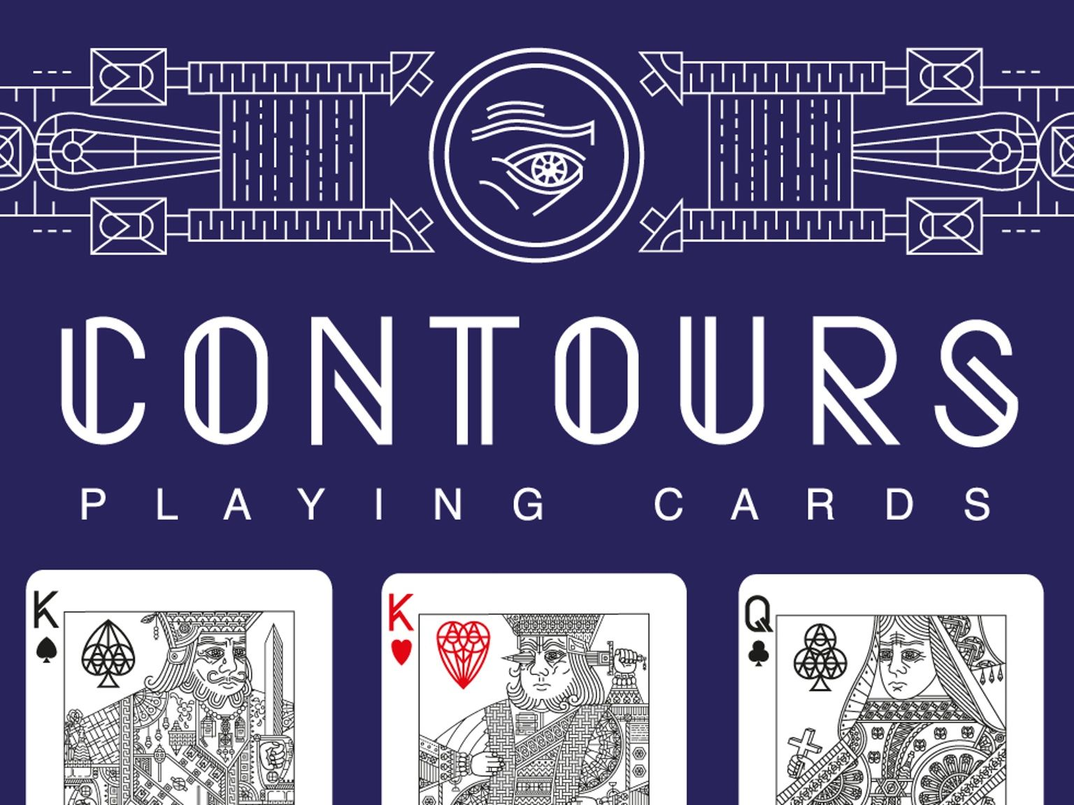 Custom deck of playing cards uniquely designed from front to back.