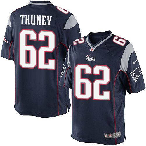 a1b39b450 Youth Nike New England Patriots  62 Joe Thuney Limited Navy Blue Team Color  NFL Jersey