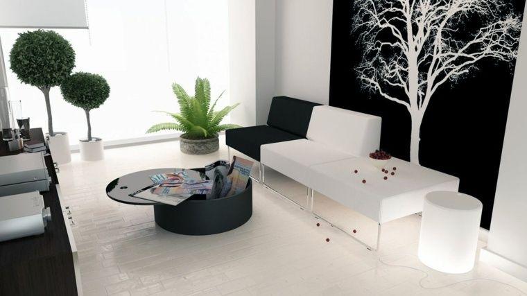 Déco salon noir et blanc  une dualité complémentaire Deco salon