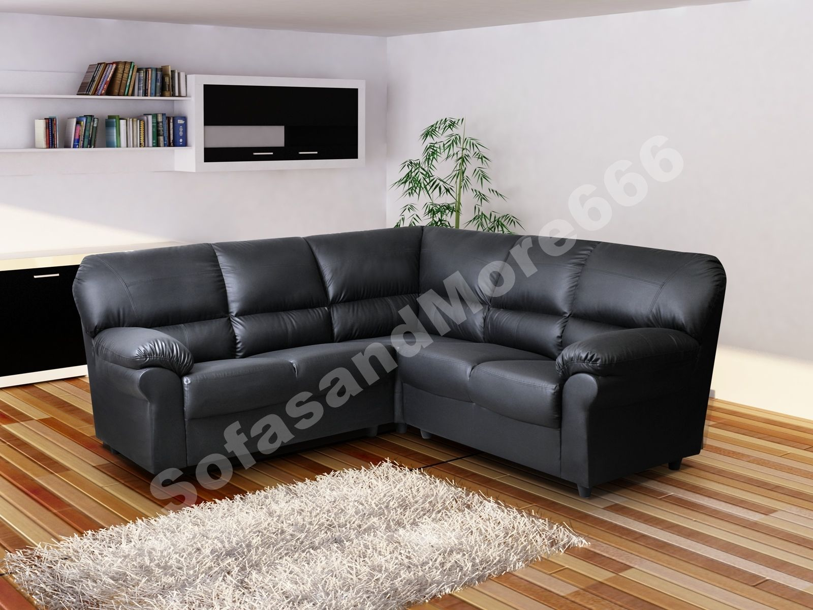 brand new - candy - corner sofa - brown or black - fabricfaux
