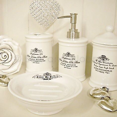 French Bathroom Accessories Sets Google Search Guest Bathroom - French inspired bathroom accessories for bathroom decor ideas