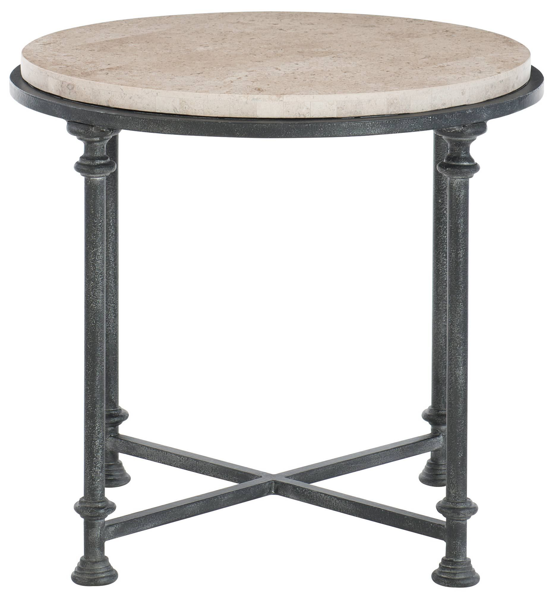 Galesbury Round Metal End Table Bernhardt Metal End Tables