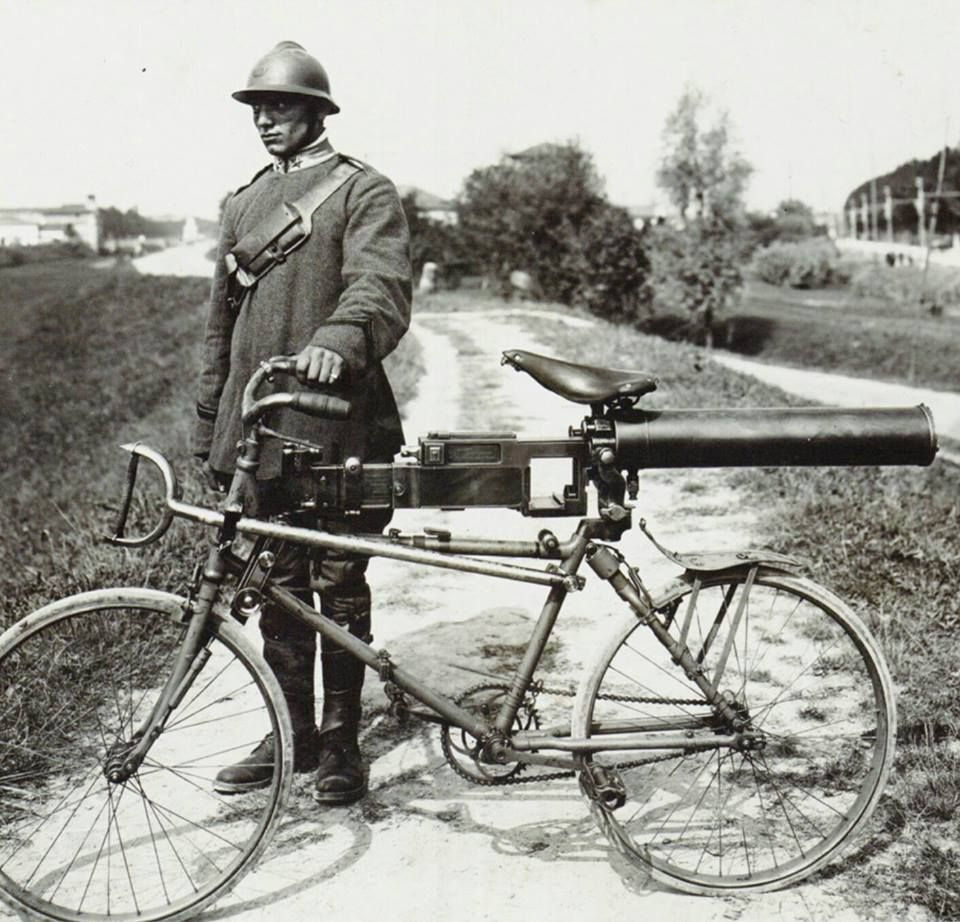 Yikes! Bianchi Model 1912 military cycle. Front and rear suspension ...