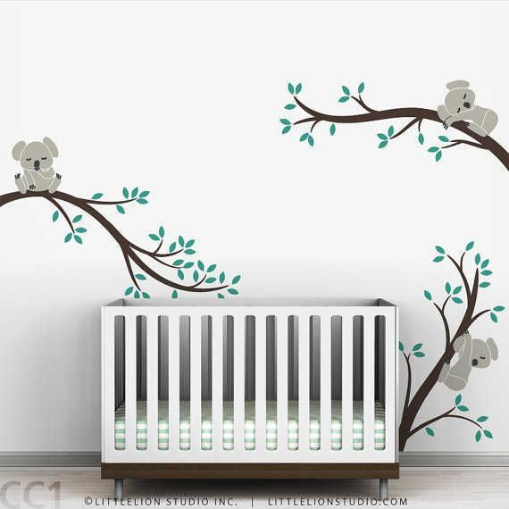 Koala Baby Nursery Wall Decal Koala Tree Wall Decal For Sleepy - Wall decals baby room