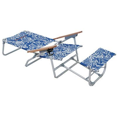 Tommy Bahama Oversized Aluminum Beach Chair With Footrest Blue