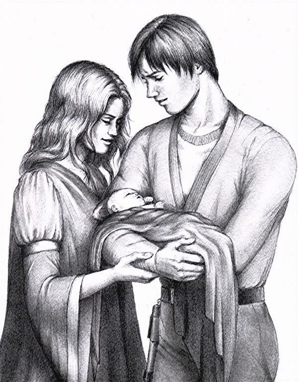 Tenel Ka Jacen And Little Baby Allana This Is The First Time Jacen