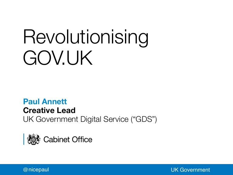 Revolutionising GOV.UK