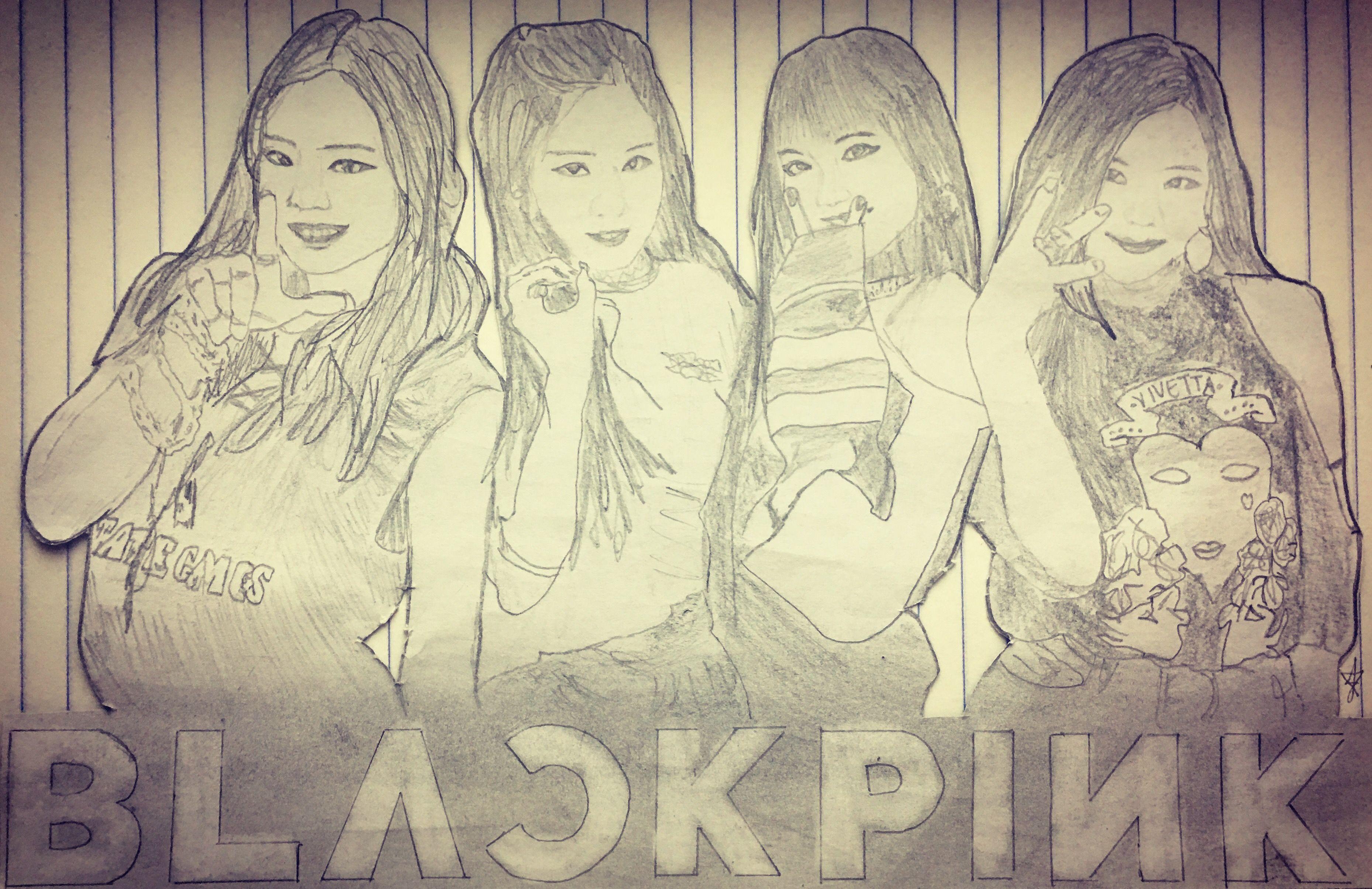 Blackpink Jennie Rose Lisa Jisoo Drawn By J Photo From