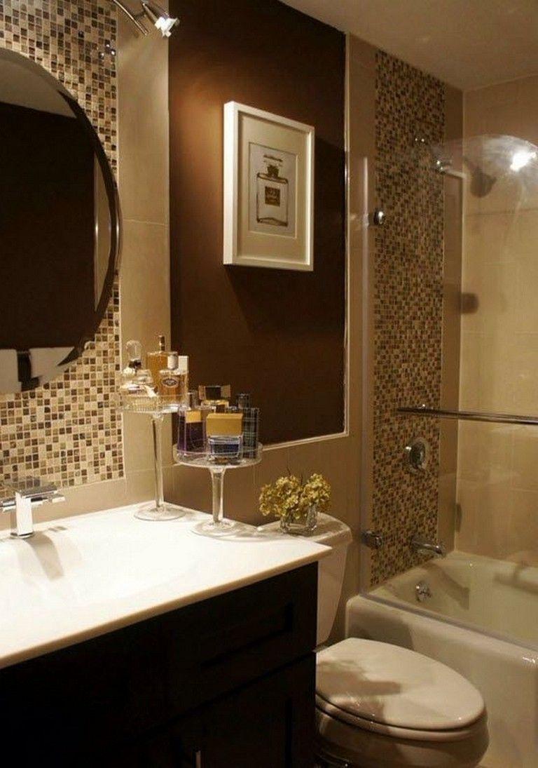 25 Gorgeous Brown Bathroom Ideas Bathroomideas Bathroomdecor Bathroomdesign Blue Bathroom Decor Trendy Bathroom Tiles Brown Bathroom