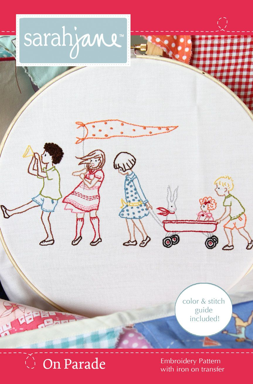 Embroidery pattern ironon transfer on parade via etsy
