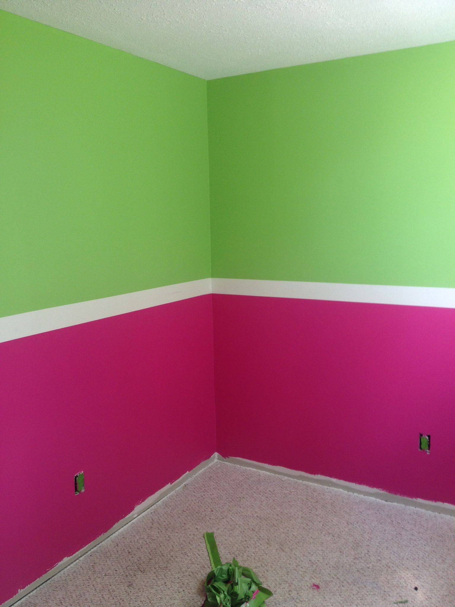 Pink Green Menchie S Watermelon Color Paint Small Little Girls Bedroom Little Girl Bedroom Girls Bedroom Paint Colors