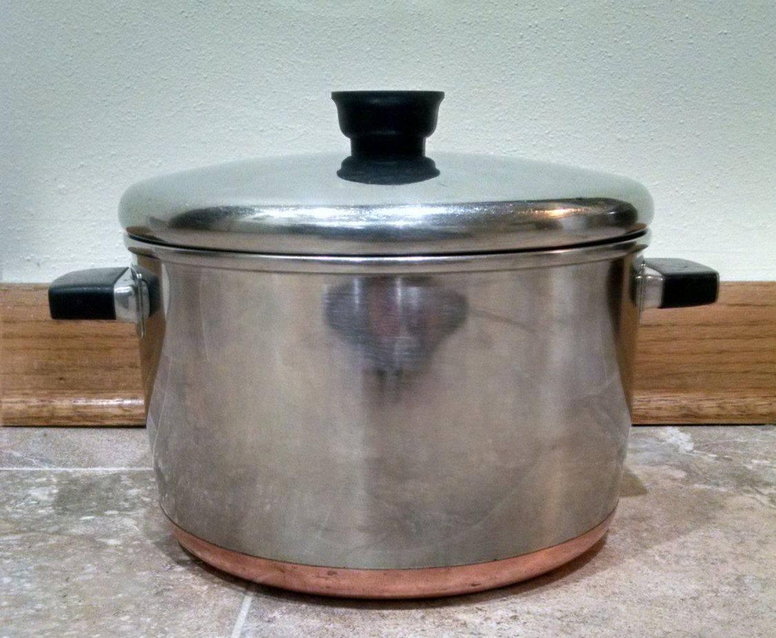 Sears Maid of Honor Copper Bottom Stainless Steel Pot Stock Pot ...