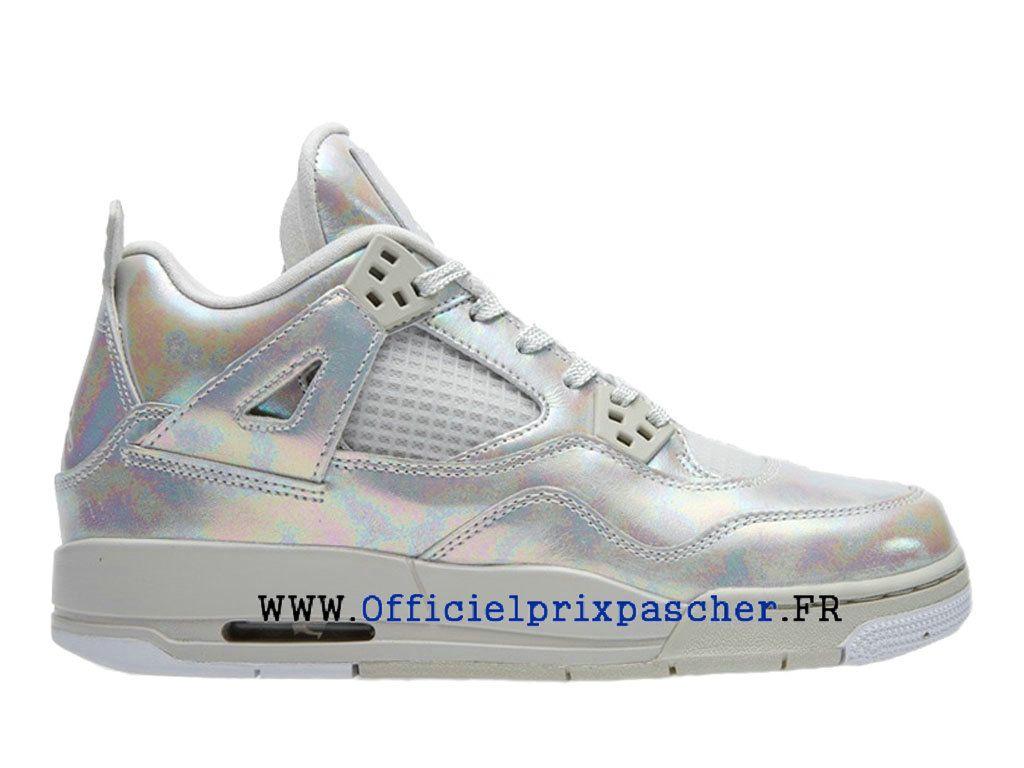 Air Jordan 4 Retro GS Boutique Basketball Chaussures Pas Cher Femme Pearl  Argent 742639-045