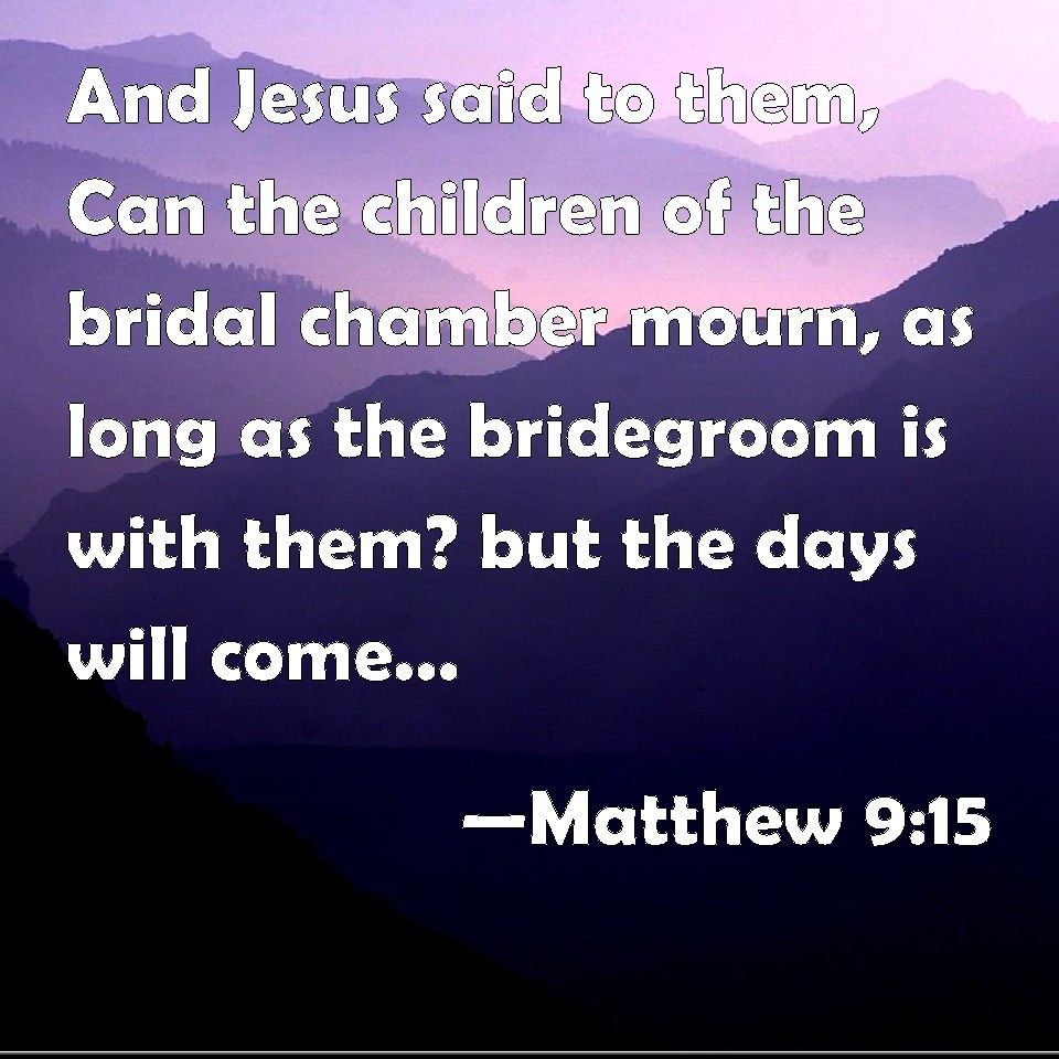 Image result for free photo of Matthew 9: 14-15