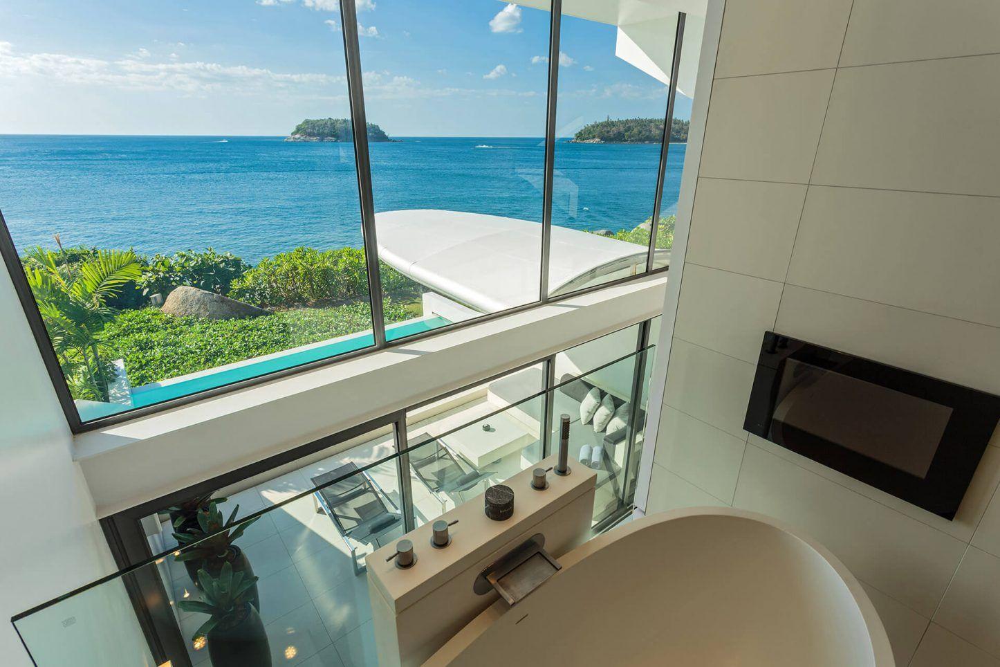Loft bedroom privacy  Kata Rocksu onebedroom uOcean Pool Loftu Sky Villas are the