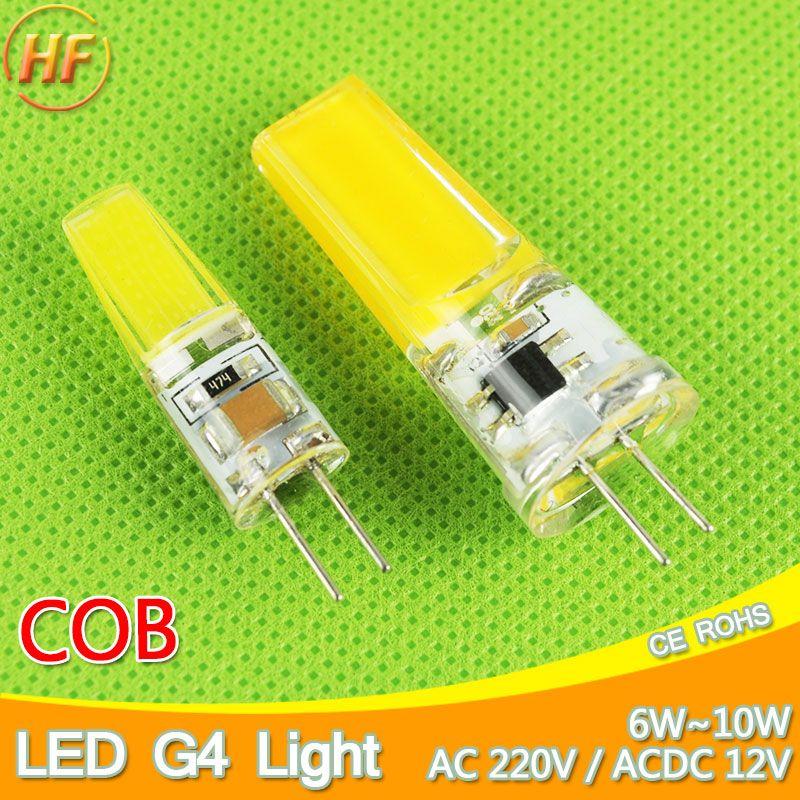 חדש G4 Cob Led Acdc 12 V 6 W Ac220v 6 W הנורה 10 W Led G4 מנורת קריסטל אור נורת Led Lampara ומביליה אמפולה Led G4 3 W 4 Led Fluorescent Led Bulb Led Light Bulb