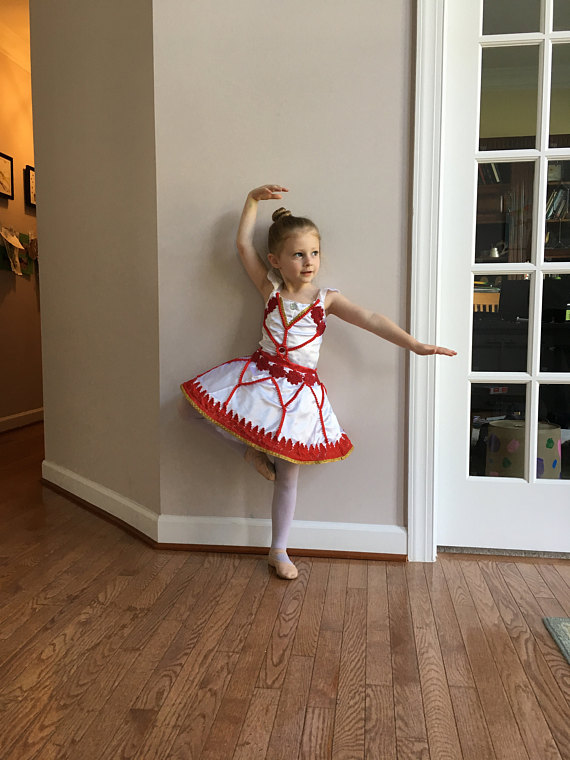364db2663 Leap Felicie Red   Gold Ballet Costume or Dance Dress for Toddlers ...
