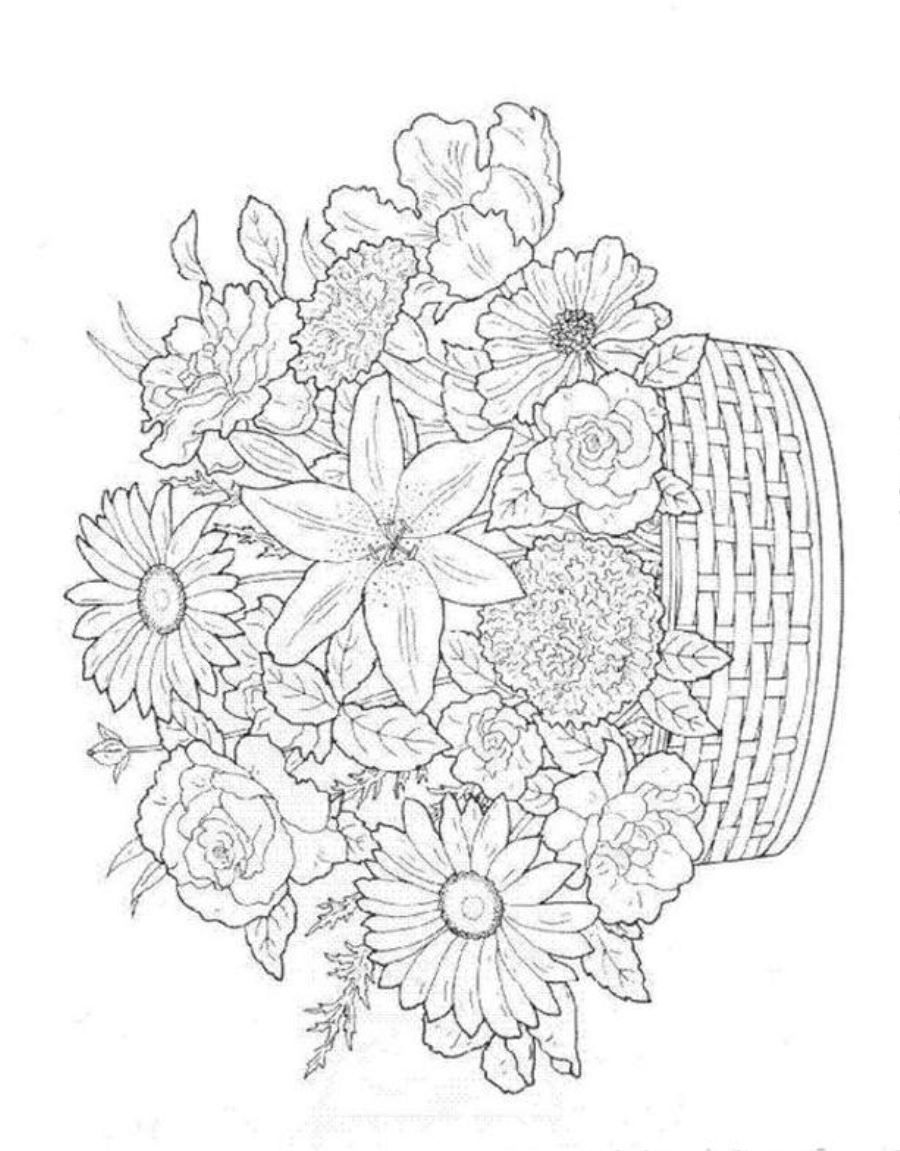 Summer Flowers Printable Coloring Pages Detailed Coloring Pages