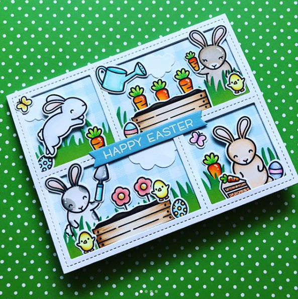 Easter Card Inspiration with Lawn Fawn is part of lawn Fawn Easter - Making an adorable Easter card has never been easier, or cuter, than it is with Lawn Fawn stamps and dies! We've put together some inspiration for making your own holiday cards with Lawn Fawn