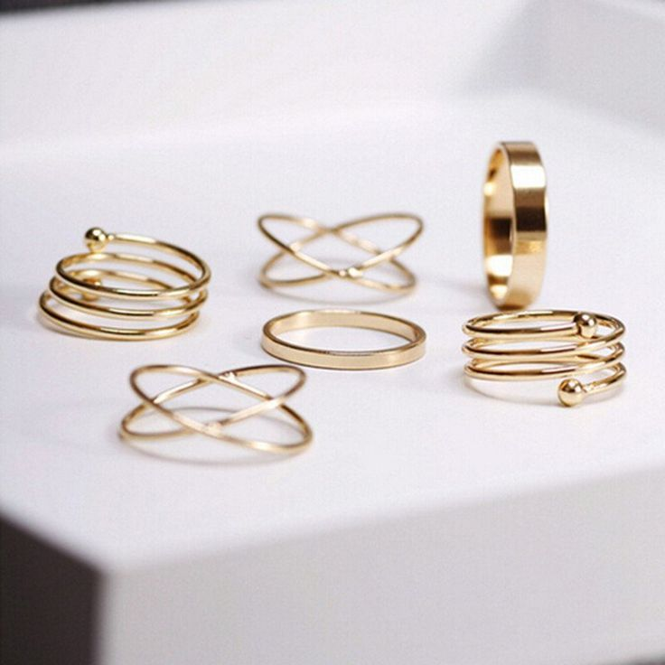 Gold Boho Rings 6 Piece Set