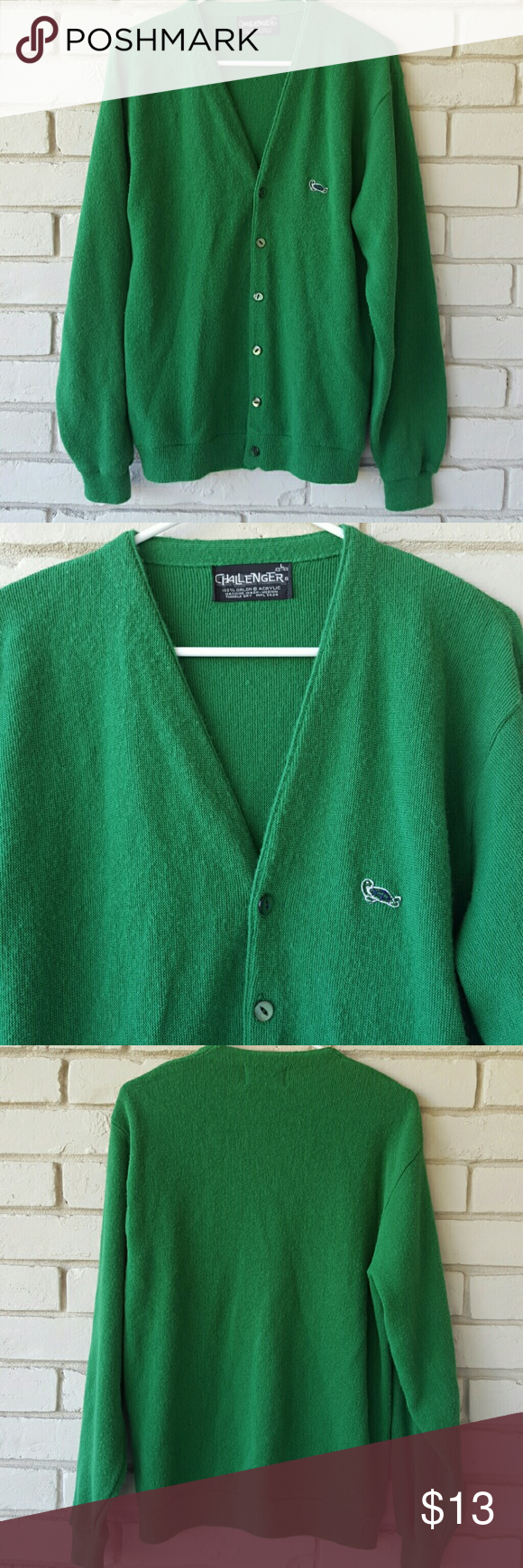 Vintage Men's Challenger cardigan Great condition. Size L Challenger Sweaters Cardigan
