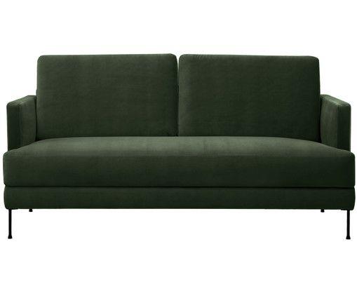Sofa Samt Grün samt sofa fluente 3 sitzer interiors