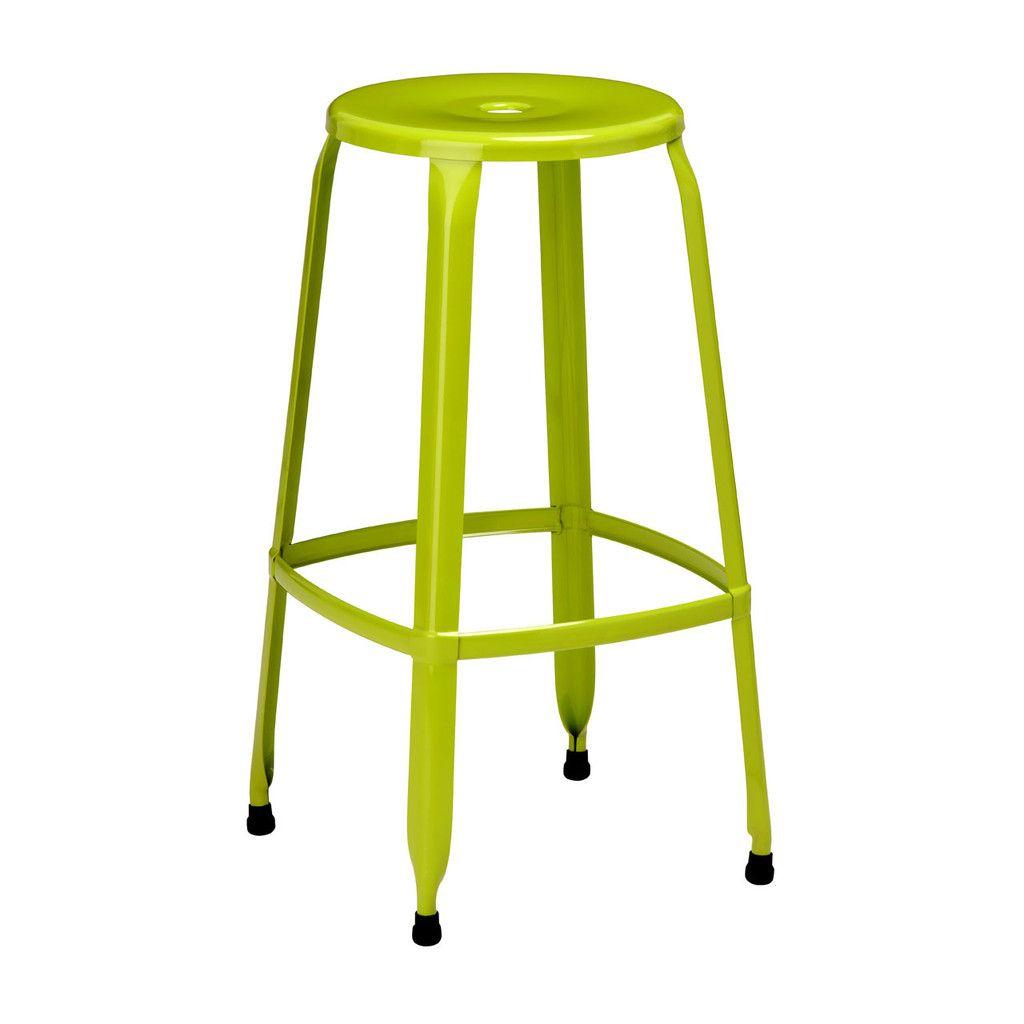Disc stool lime green powder coated metal bar pinterest