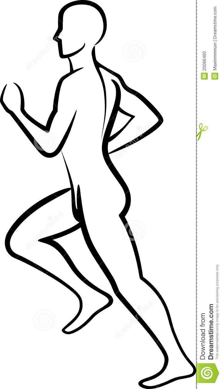Running Guy Line Drawing Wiring Diagrams