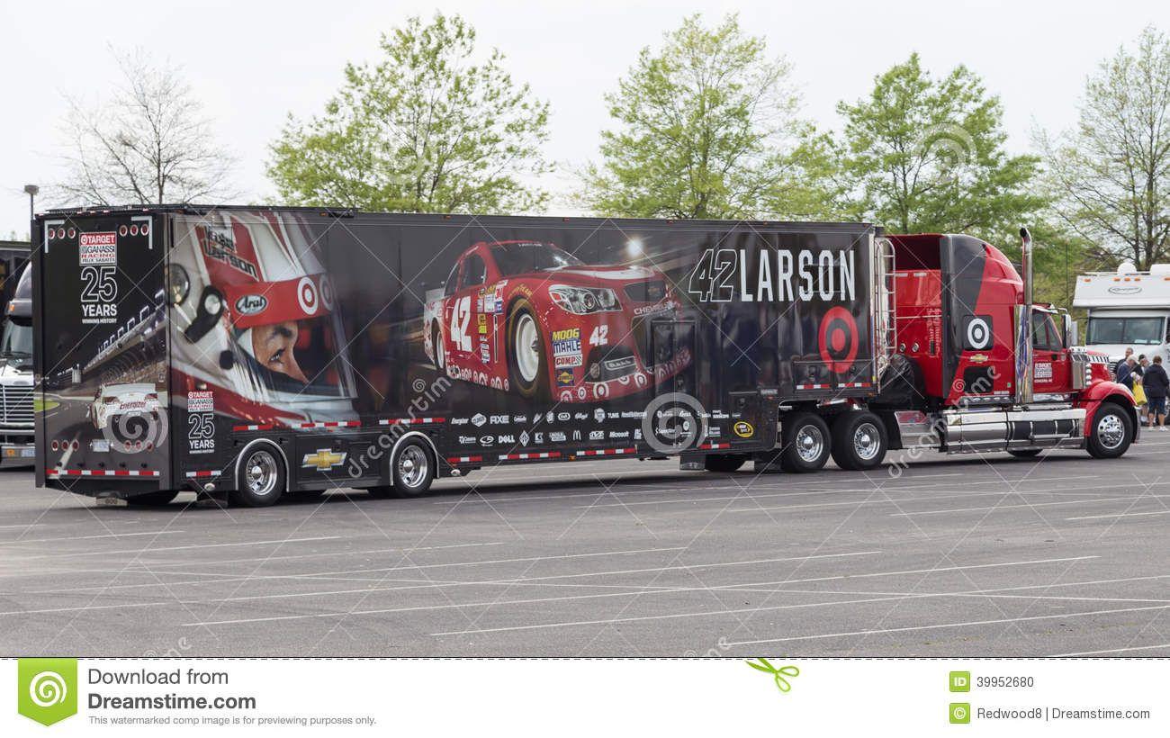 Kyle Larson #42 NASCAR Sprint Cup Series race car hauler. | Kyle ...