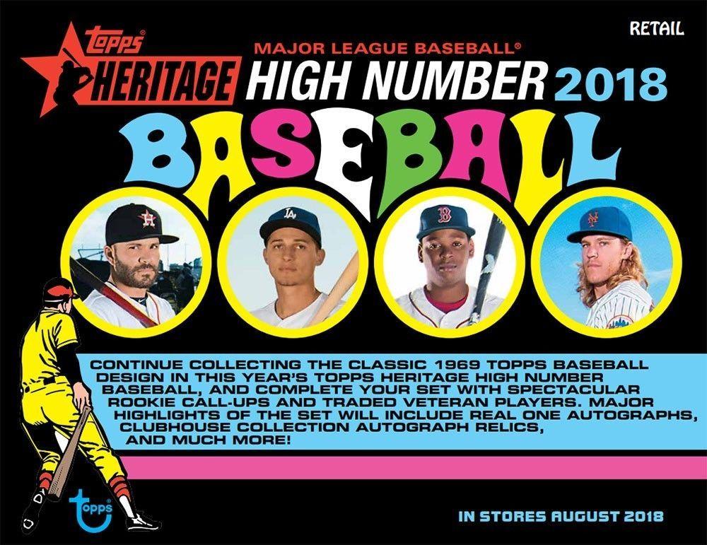 2018 topps heritage high number baseball 8ct blaster 16