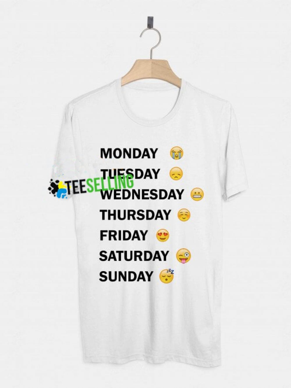 ad835a3e Emoji Days Of The Week T shirt Adult Unisex Size S-3XL Price: 15.99