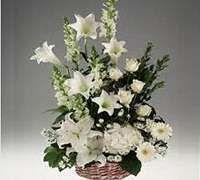 Resultado De Imagen Para Arreglo Floral En Azucenas Arreglos Florales Flores Blancas Azucena