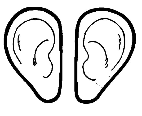 Pair Of Ear Coloring Pages Kids Play Color In 2020 Coloring Pages For Kids Preschool Pictures Coloring Pages