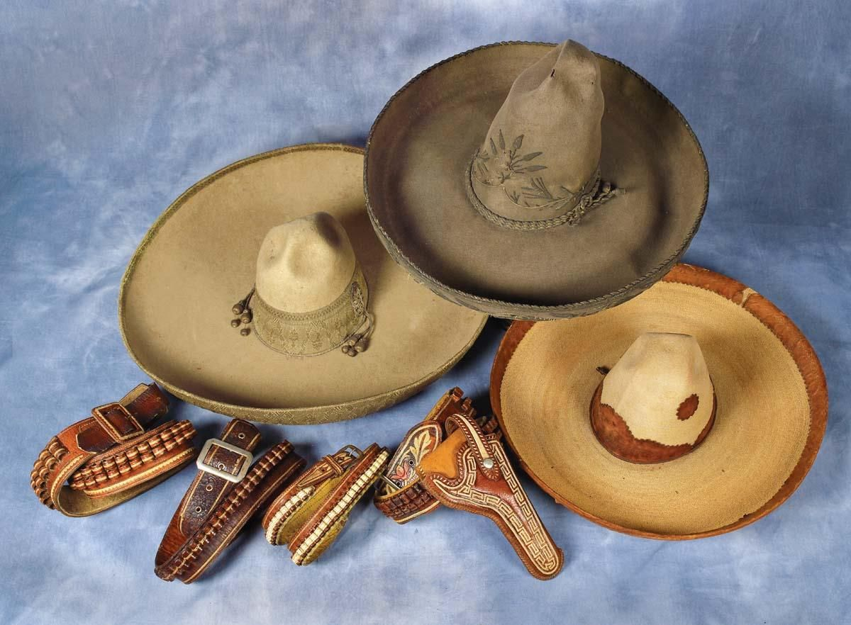 3faa85fccab Mexican Sombreros plus fancy Mexican Gun Leather