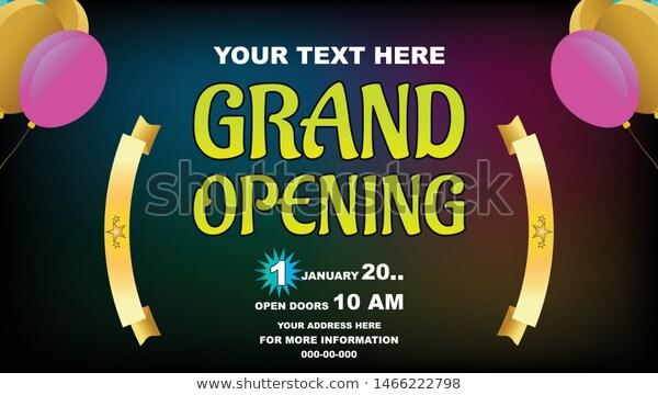 Grand Opening Vector Banner Template Banner Stock Vector Royalty Free 1466222798 Banner Template Grand Opening Banner