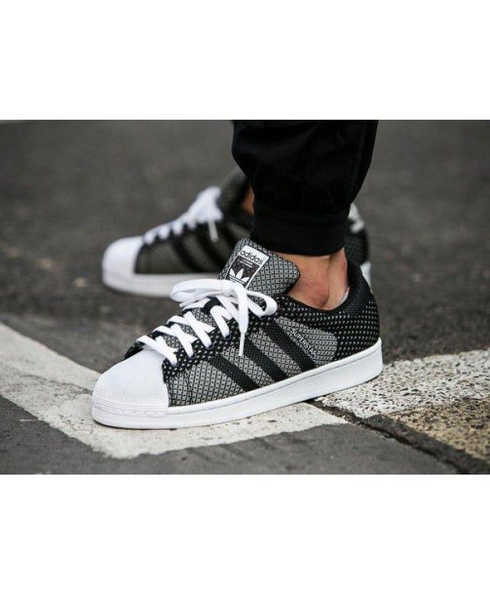 Chaussures Adidas Original Superstar Weave Noir Blanc Hot Style,  authentique, vous êtes invités à