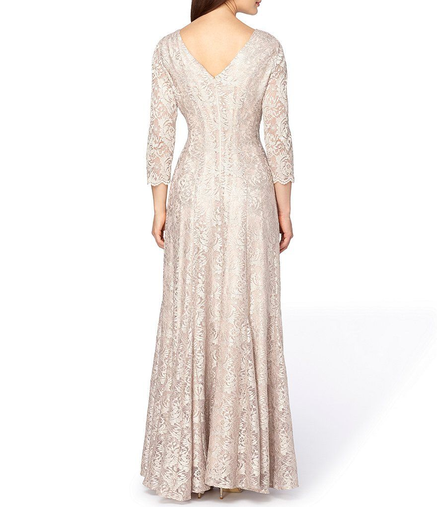 9e780690132 Shop for Tahari ASL Jewel Neck V-Back Lace Gown at Dillards.com ...