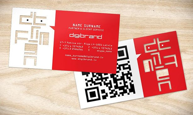 30 Creative Qr Code Business Cards Qr Code Business Card Business Card Design Examples Of Business Cards